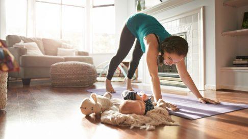 kvinne hvordan trene nedre del av mage
