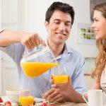 Drikk jus, melk, vann eller fruktte