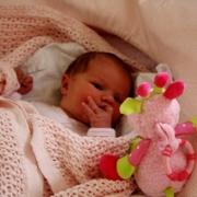 Mie Malene 2 uker gammel.