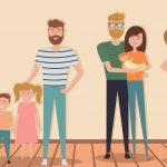 set-of-traditional-and-nontraditional-family-with-kids-vector-id962153416