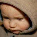 sad baby boy portrait