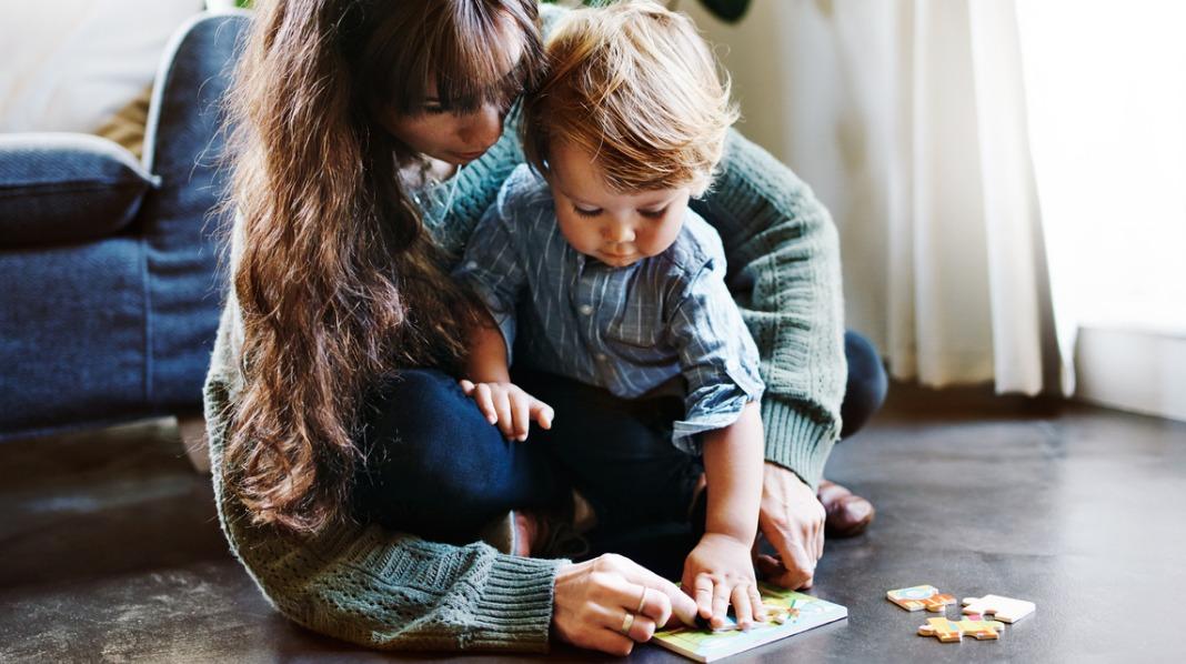 Barn og puslespill