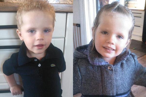 Marcus blir tre år på julaften, og storesøster Angelica fem år.