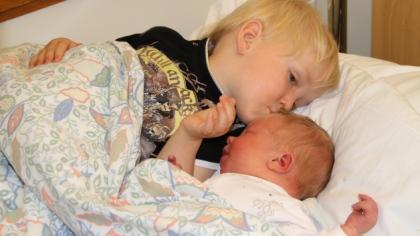 Store lille Nikolai var 4542 gram og 54 cm lang da han ble født på termindatoen.