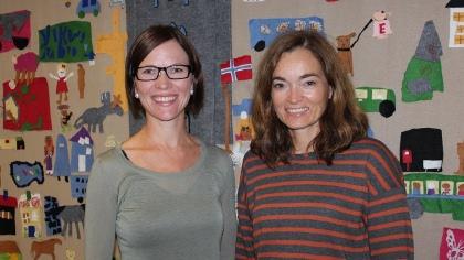 Elisabeth Vågen Bø (t.v.) og Ingrid Skage