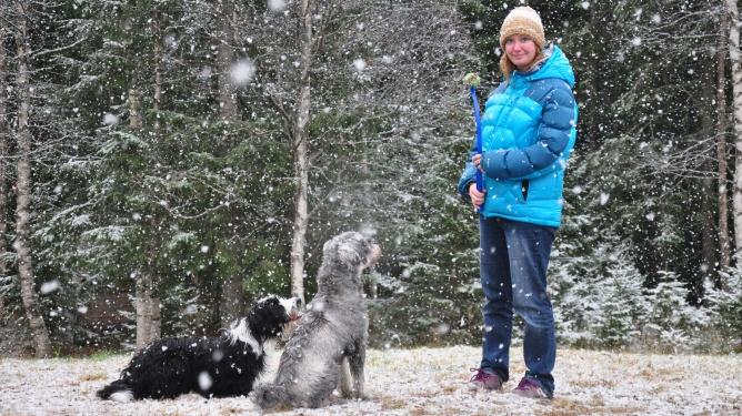 Vinteren er kommet til Ingunn. Alle foto: privat