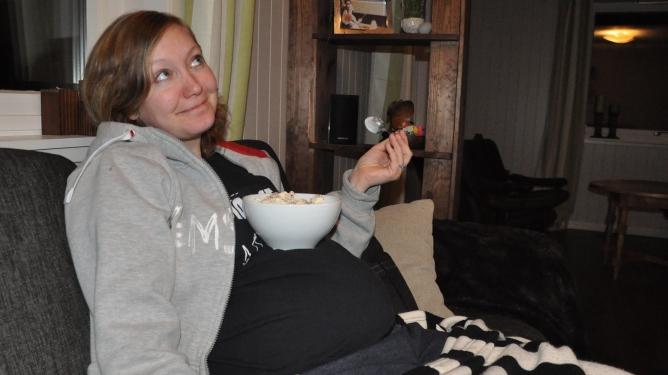 Og hvis magen din er stor, kan du bruke den til spisebord. Foto: privat