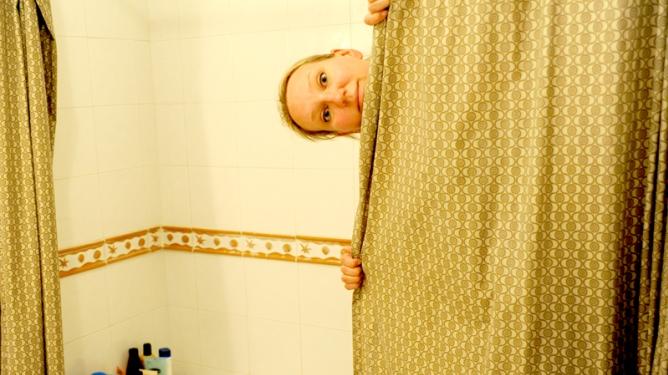 Hallo! Hvor er håndkleet mitt? Foto: privat