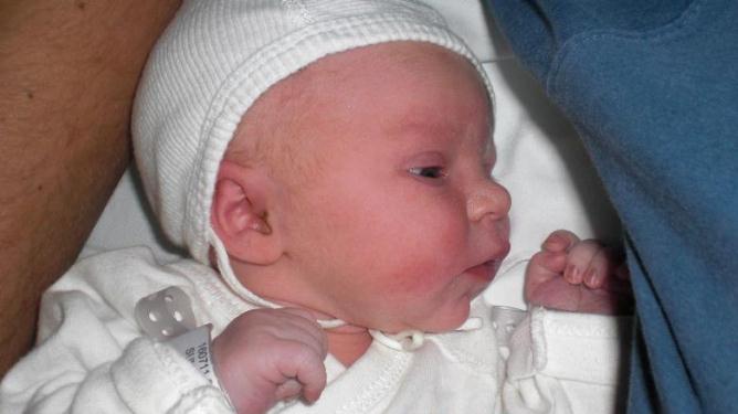 Nyfødte lille Maria. Alle foto: privat