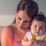 emotional-photo-of-a-mother-and-her-baby-girl-picture-id492805986