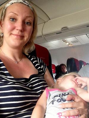 Jasså! Nå sovnet du. Rett før landing!