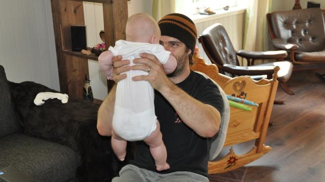 Gode fedre er flotte å se på, skriver Ingunn. Foto: privat