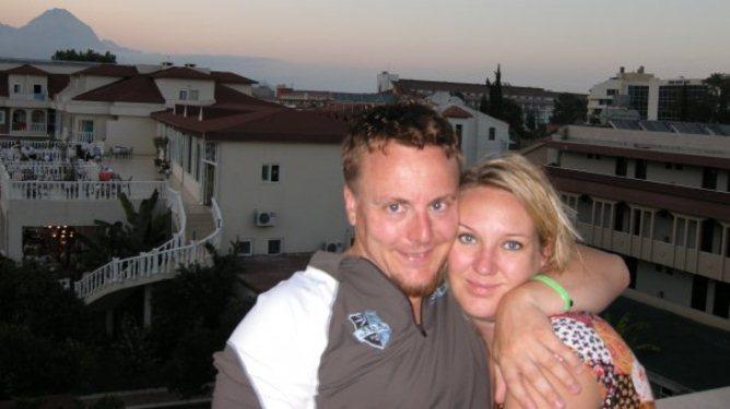 Nyforlovet og forelsket i Tyrkia sommeren 2009. Foto: privat