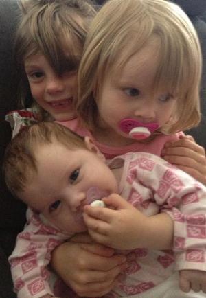 Tre søte søstre.