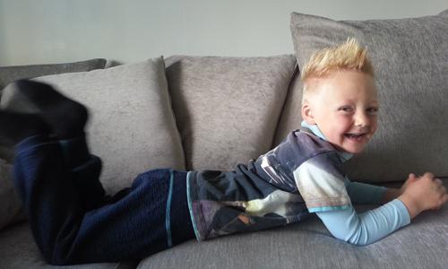 Storebror Ask (4) fikk navnet sitt da han var fire måneder gammel.