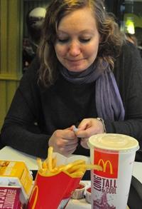 McDonalds er obligatorisk på bytur når man er gift med en amerikaner, forteller Ingunn.