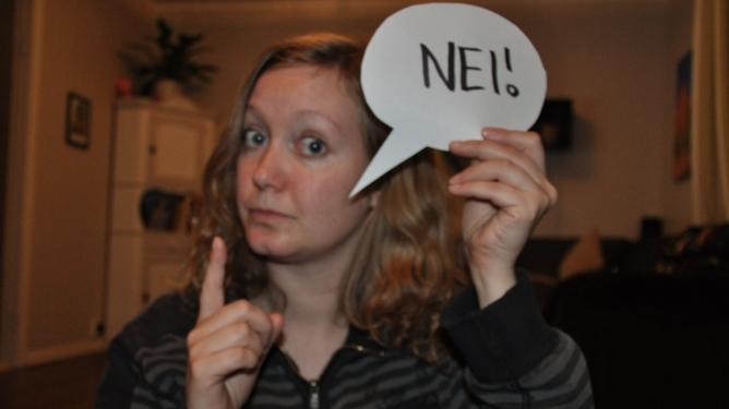 """Ingunn bekymrer seg for om """"nei"""" blir datterens første ord. Begge foto: privat"""