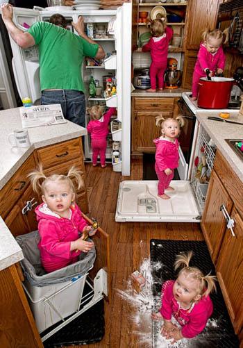 Kjøkkenhjelper. Jeg snudde meg bare i 30 sekunder for å se hvilken is vi hadde i fryseren. Foto: Dave Engledow