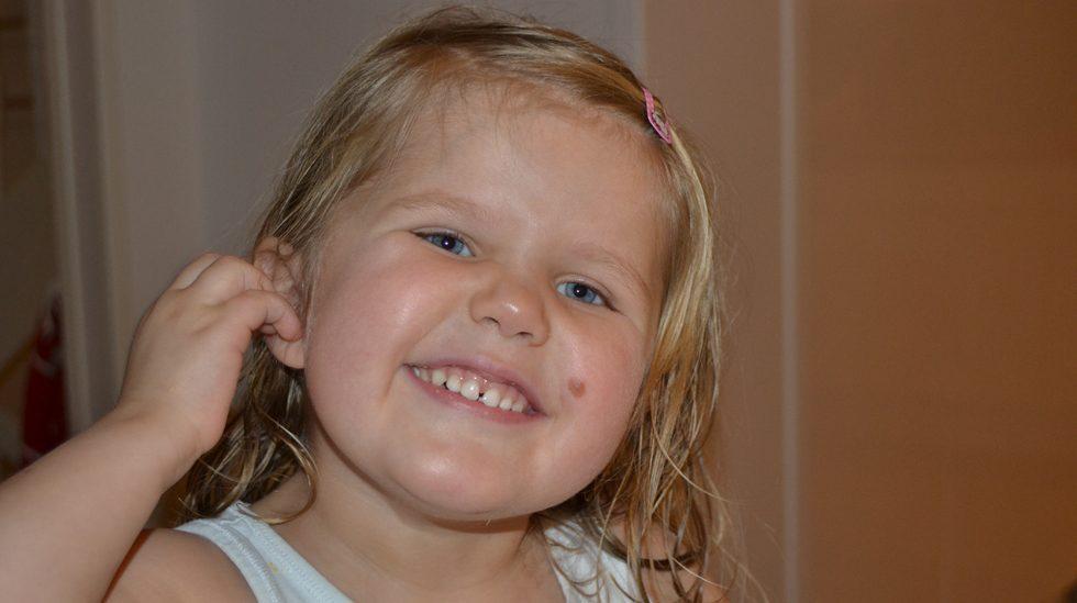 Her var Milla nesten fire år. Hun hadde da levd med diagnosen diabetes type 1 i nærmere ett år. Alle foto: privat