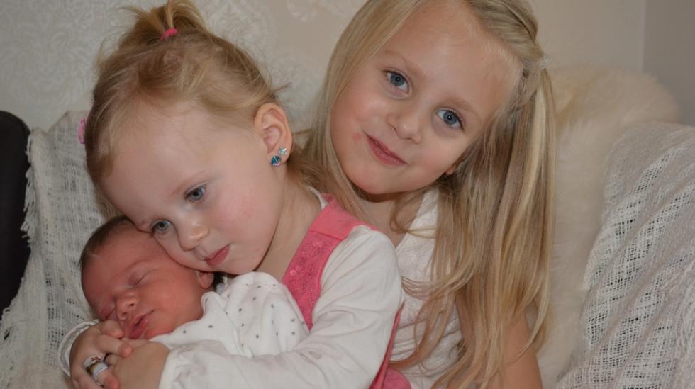 Trekløveret: Christina (6 1/2 år), Emma (2 år) og minstemann Sander. Foto: privat