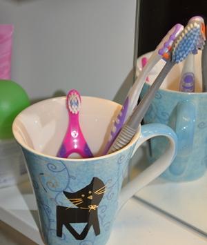 En ny tannbørste er på plass.
