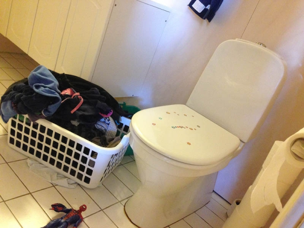 Kanskje greit å få satt på en vask... Når jeg først er her.