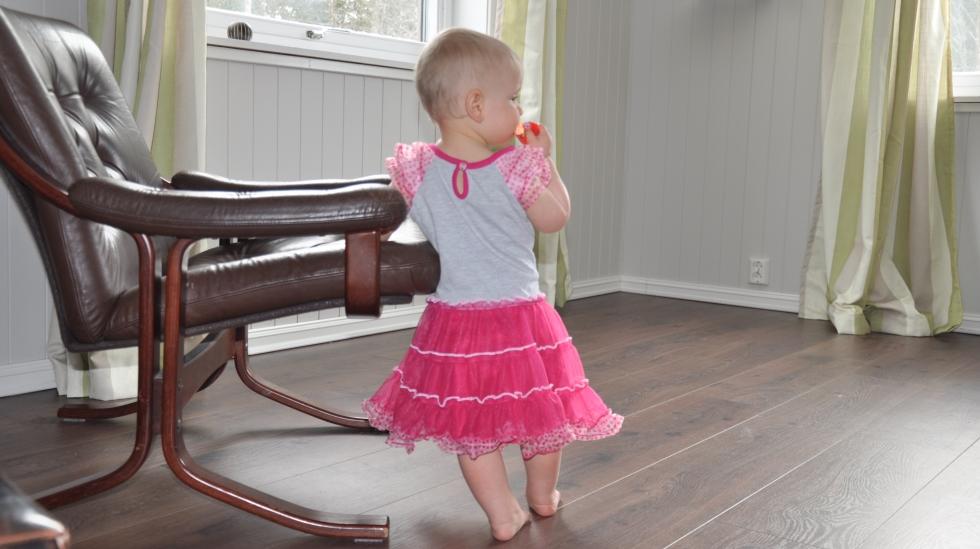 Når pappa eller grandpa får bestemme, blir det rosa, rosa, rosa. Foto: privat