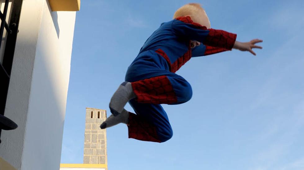 Trassig treåring går inn for landing. Foto: privat