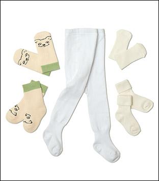 Strømpebukser 62-68 cm. Sokker og vanter 19-21.