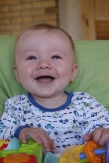 Sykdom til tross, Leo Nikolai er en blid gutt. Foto: privat