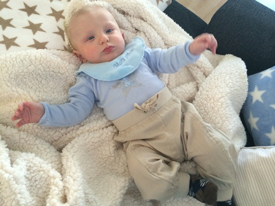 Phillip 4 1/2 måneder gammel.