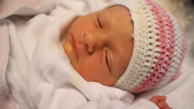 Nyfødte Maria.
