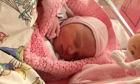Nyfødte Sophia.