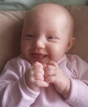 En blid liten frøken. Foto: privat