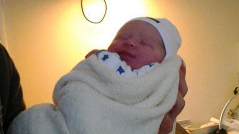 Nyfødte Kaiden. Foto: privat