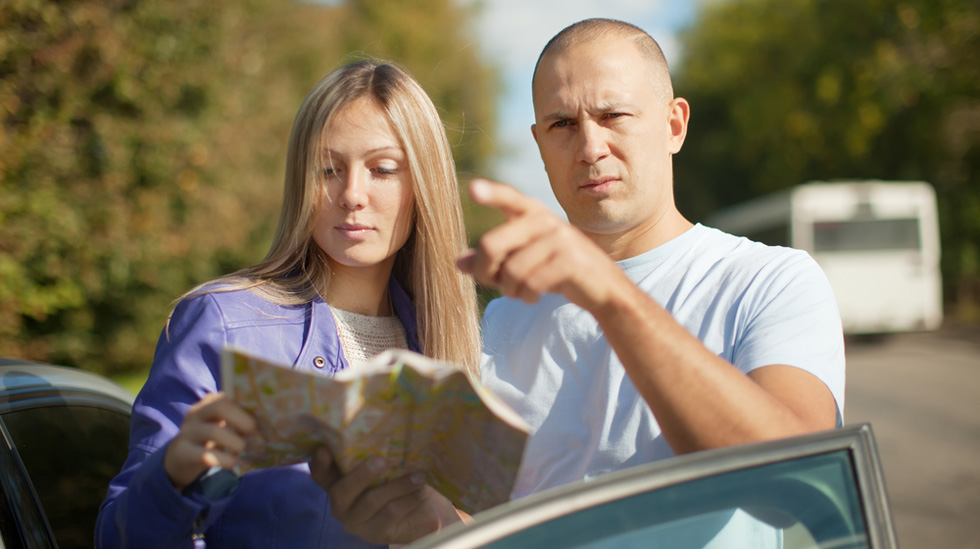 Det hadde kanskje vært en idé å ta med et kart på turen? Illustrasjonsfoto: Shutterstock