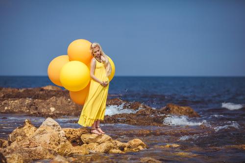 Hva er vel et gravidbilde uten ballonger? Uansett setting?