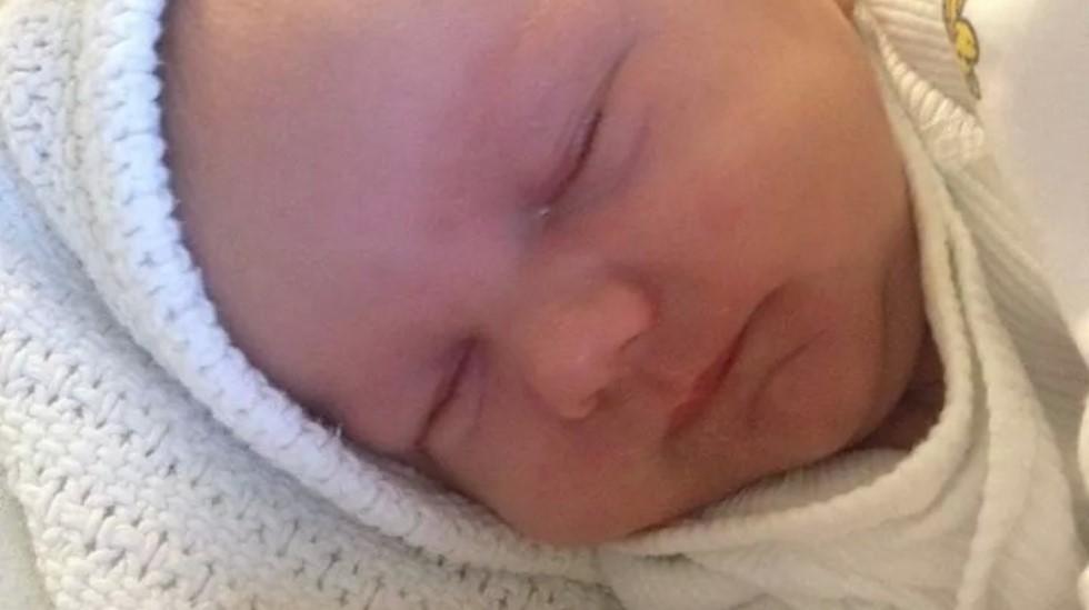 En herlig liten gutt som lå trøblete til før fødselen. Foto: privat