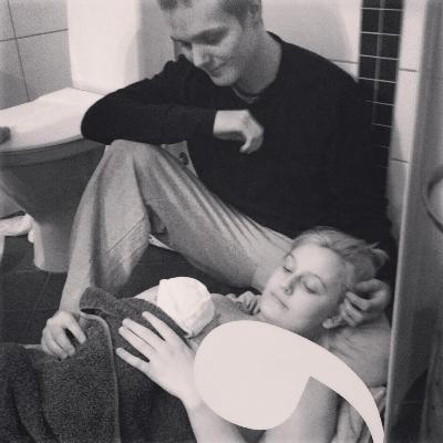 Christian rakk akkurat å få med seg fødselen. Foto: privat