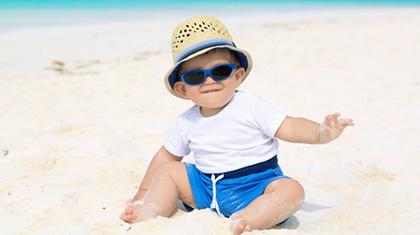Et tips til kjøp av solbriller: Velg noen som ikke er så lette for barnet å ta av.
