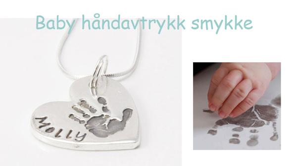 Smykke med babyens håndavtrykk fra Little Wonders. Verdi kr 1240,-