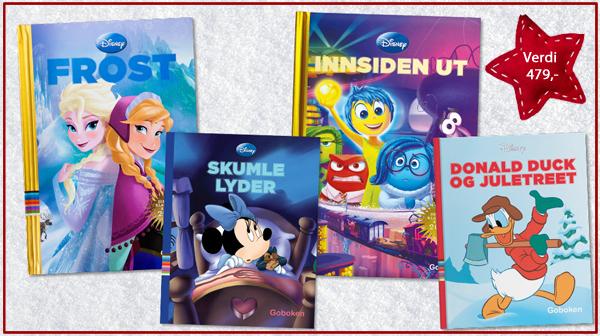 Bokpakke fra Disney. Verdi kr 479,-