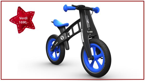 Treningssykkelen First Bike Limited Blue fra FirstBIKE. Verdi kr 1690,-