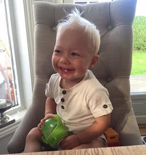 Iver Johannes ble født i 2014. På dette bildet er han 2 år gammel.