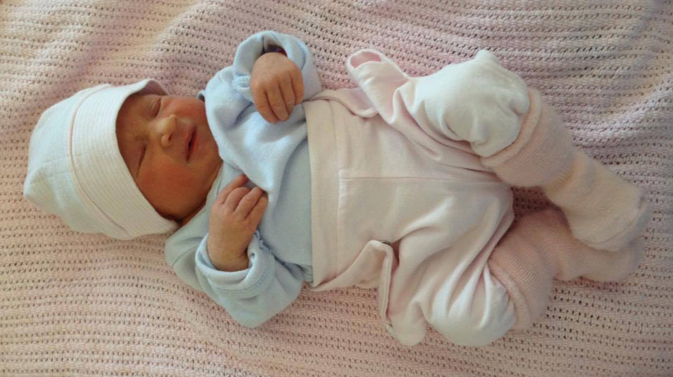 Lille Aurora Eugenie ble født i uke 35+4. Foto: privat