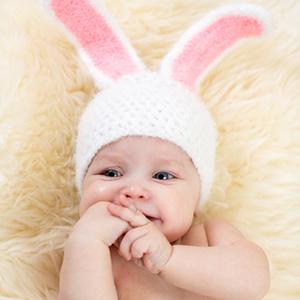 Heter denne lille påskeharen Aslaug? Hulda? Gudny?