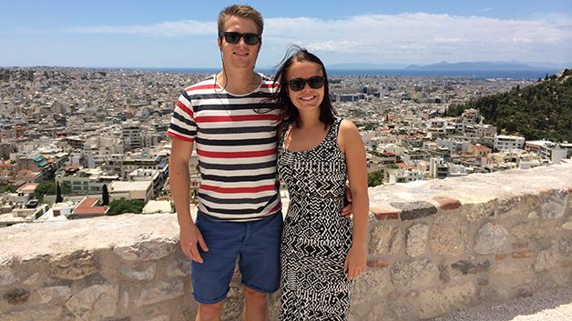 I Hellas fikk paret gledelige nyheter, og legene ved klinikken mente de ikke trengte prøverørsforsøk, men ville lykkes på egen hånd. Foto: privat