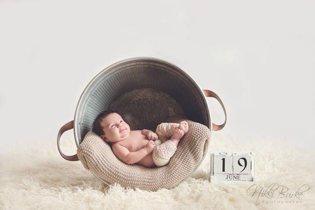 Eva 1 måned gammel.