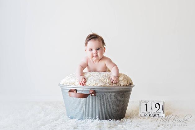 Eva 5 måneder gammel.