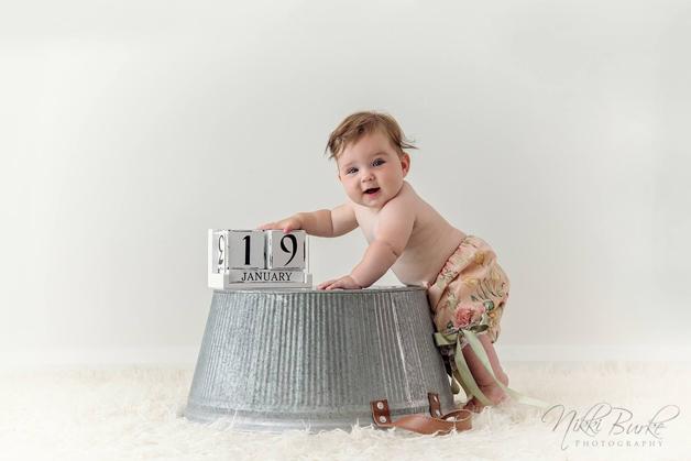 Eva 8 måneder gammel.